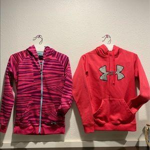 2 Under Armour Hoodies/Sweatshirts.